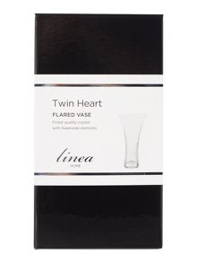 Linea Twin heart flared vase