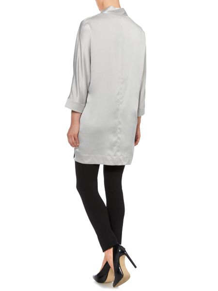Max Mara Mochi silk tunic 3/4 sleeve top