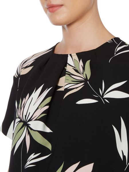 Max Mara Max leaf print tshirt dress