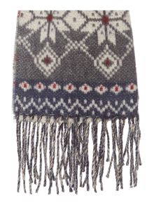 Linea Patterned Fine Knit Scarf