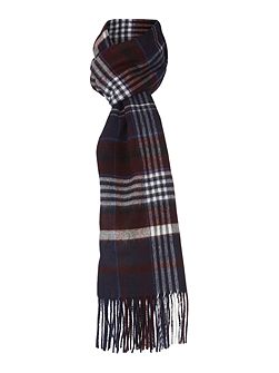 Check Fine Knit Scarf