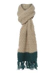 Lambeth Knitted Block Colour Scarf