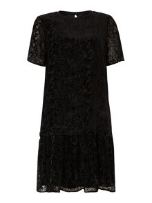 Y.A.S. Short sleeve drop waist lace dress