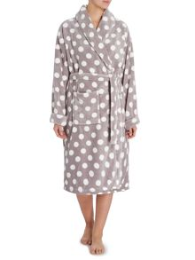 All over print Shawl Robe