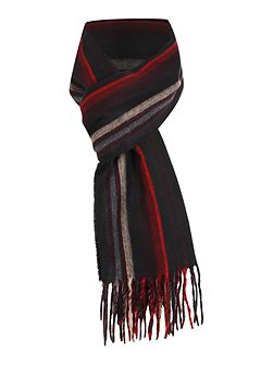 Stripe Fine Knit Scarf