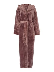 Matt satin trim cosy robe