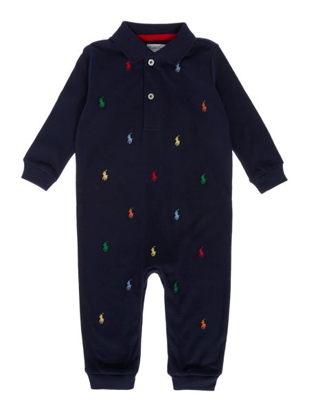 Polo Ralph Lauren Baby Boys All Over Print Pony Polo All In One