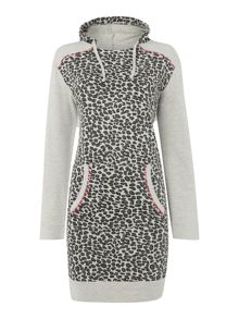 Therapy Leopard Loopback Lounge Dress