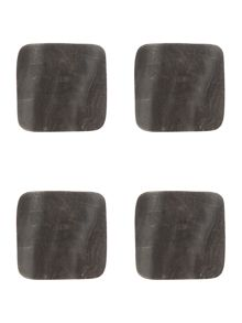 Gray & Willow Grey Marble Coaster set of 4