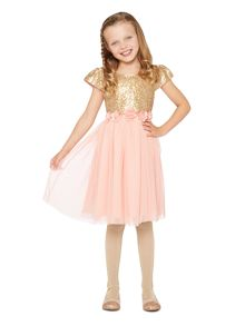 Girls Mathilda sequin panel dress