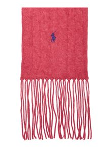 Cabel Knit Long Scarf