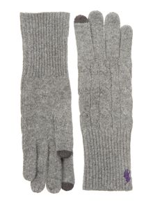 Cabel Knit Tech Gloves
