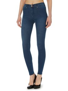 Plenty high-rise skinny jeans in blue used