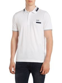 Regular Fit Polo Shirt With Double Stripe Collar