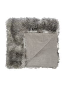 Luxury stripe faux fur throw