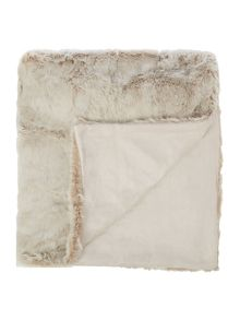 Mocha faux fur throw