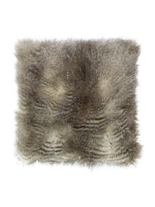 Luxury stripe faux fur cushion