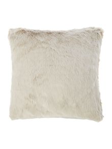 Linea Mocha faux fur cushion