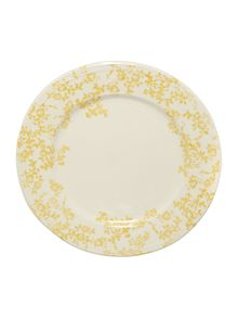 Yellow floral dinner plate