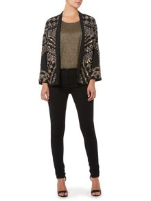 Beaded relaxed jacket