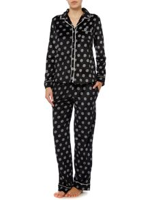 DKNY Boxed Fleece Dots PJ Set