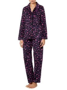 DKNY Boxed Fleece Leopard PJ Set