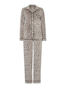 DKNY Boxed Fleece Dot Animal PJ Set