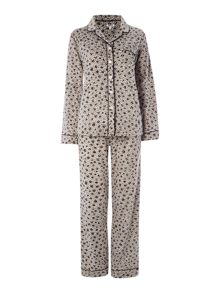 DKNY Fleece Dot Animal PJ Set