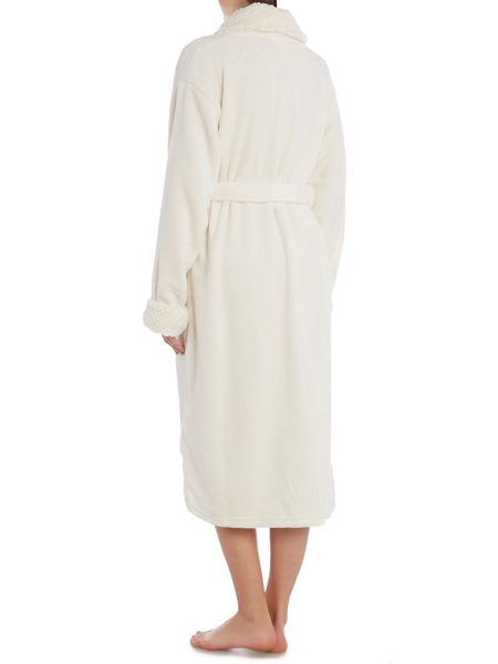 Dickins & Jones Textured trim shawl robe