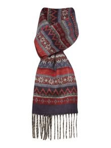 Patterned Fine Knit Scarf