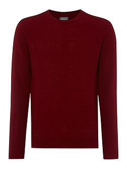 Riley Textured Crew Neck Jumper