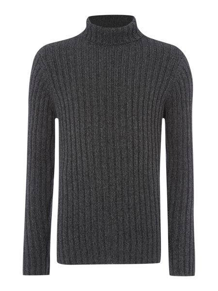 Linea Mills Ribbed Funnel Neck Jumper