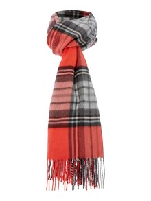 Blanket Check Wide Scarf