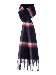 Window Pane Check Skinny Scarf