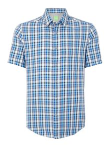 Short Sleeve Check Classic Fit Shirt