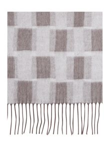 Linea Blurred Blocks Wide Scarf
