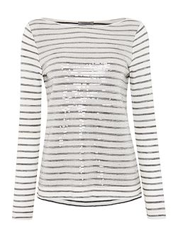 Tom embellished stripe top