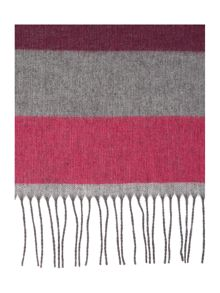 Linea Block Stripe Wide Scarf