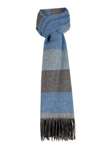 Block Stripe Wide Scarf