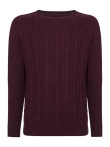 Linea Connaught Cable Crew Neck Knit