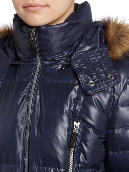 Andrew Marc Long padded coat with belt