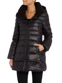 Padded style coat with hood