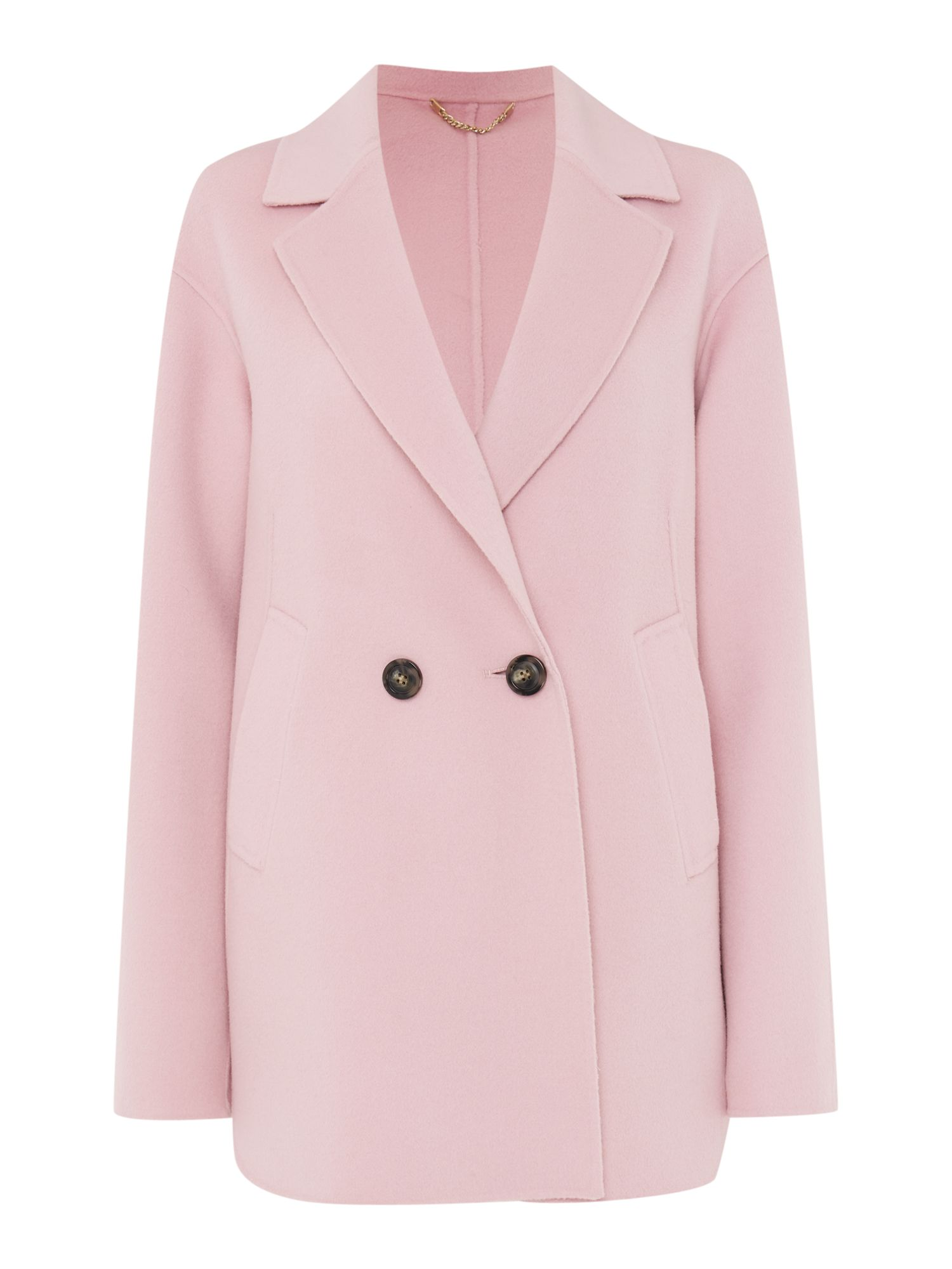 Marella Tobia cashmere double breasted coat, Pink