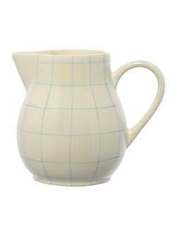 Blue check jug