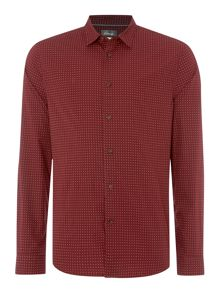 Linea Linea Doyle Long Sleeve Geo Print Shirt
