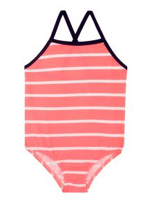 Girls Stripey Swimsuit