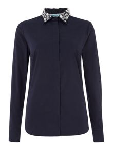 Dickins & Jones Embellished collar shirt