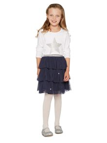 Little Dickins & Jones Girls Sequin star long sleeved top