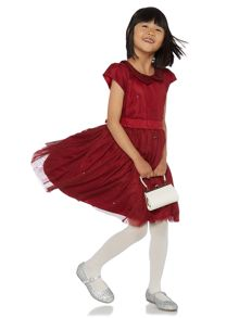 Girls Sequin collar party dress