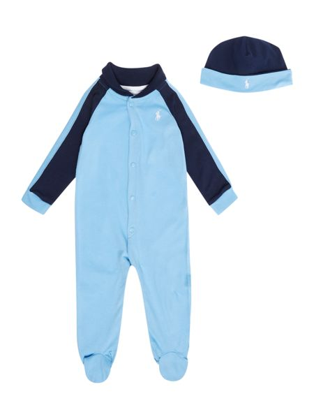 Polo Ralph Lauren Baby boys shawl coverall gift box set